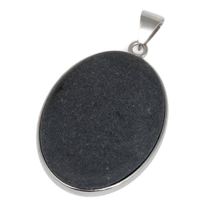 30X40MM Oval Frosted Blackstone Gemstone Pendant
