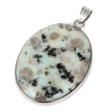 Load image into Gallery viewer, 30X40MM Oval Sesame Jasper Gemstone Pendant