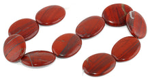 Load image into Gallery viewer, 30x40MM Red Stripe Jasper Oval Gemstone Beads
