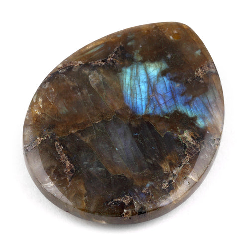35X45MM Pear Hand-Polished Labradorite Gem Stone Pendant
