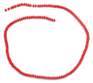 3mm Clear Red Faceted Rondelle Glass Beads