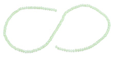 Load image into Gallery viewer, 3mm Light Green Faceted Rondelle Glass Beads
