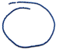Load image into Gallery viewer, 3mm Navy Blue Faceted Rondelle Glass Beads
