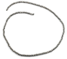 Load image into Gallery viewer, 3mm Silver Faceted Rondelle Glass Beads