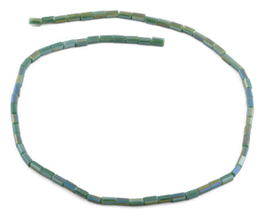 3X6mm Green Rectangle Faceted Crystal Beads