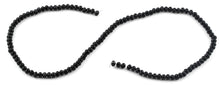 Load image into Gallery viewer, 4mm Black Faceted Rondelle Crystal Beads