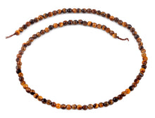 Load image into Gallery viewer, 4mm Brown Tiger Eye Faceted Gem Stone Beads