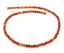 Load image into Gallery viewer, 4mm Carnelian Round Gem Stone Beads