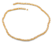 Load image into Gallery viewer, 4mm Champagne Faceted Rondelle Crystal Beads