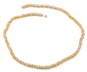 4mm Champagne Faceted Rondelle Crystal Beads