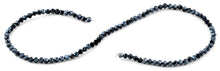 Load image into Gallery viewer, 4mm Dark Blue Twist Round Faceted Crystal Beads