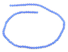 Load image into Gallery viewer, 4mm Faceted Bicone Sapphire Crystal Beads
