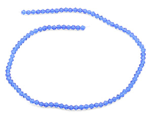 4mm Faceted Bicone Sapphire Crystal Beads