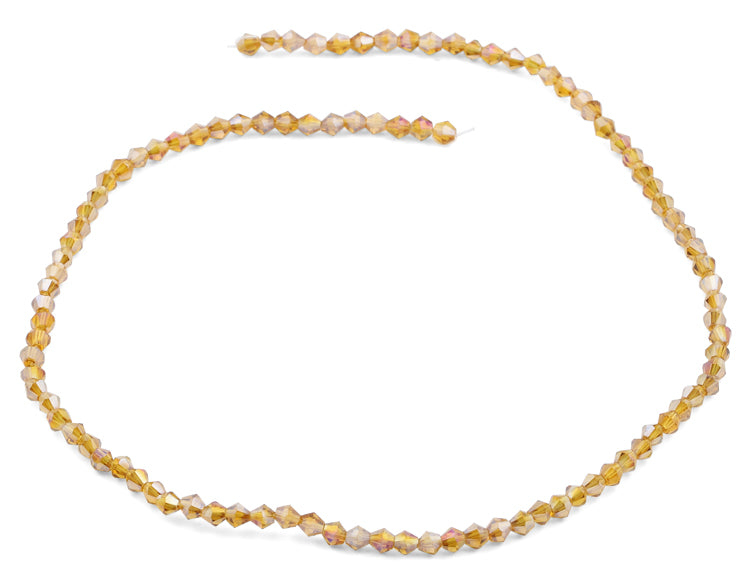 4mm Faceted Bicone Topaz Crystal Beads