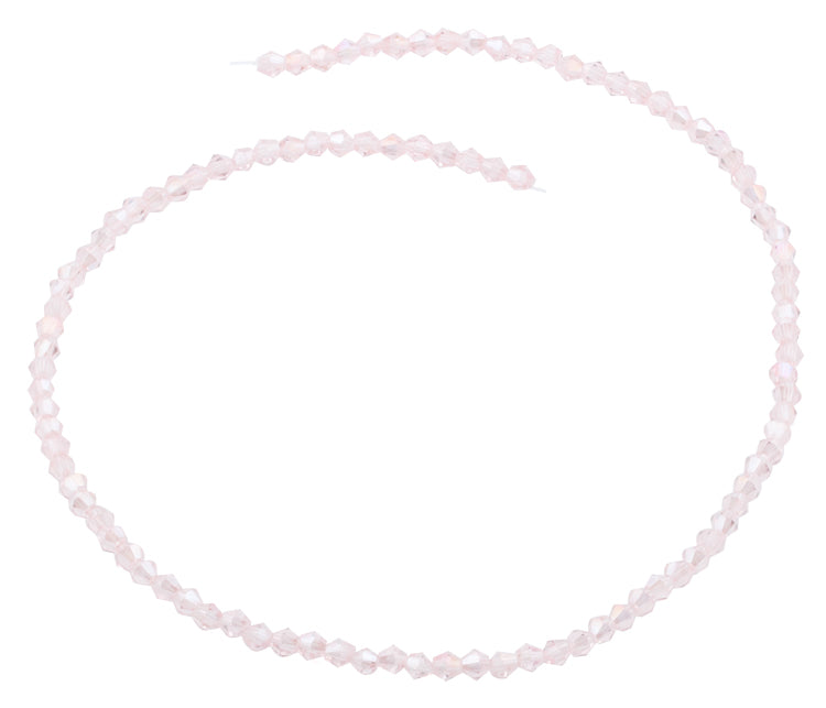 4mm Faceted Bicone Vintage Rose Crystal Beads