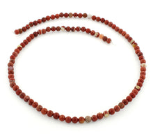 Load image into Gallery viewer, 4mm Flake Red Jasper Round Gem Stone Beads