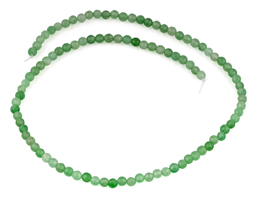 4mm Green Aventurine Faceted Gem Stone Beads