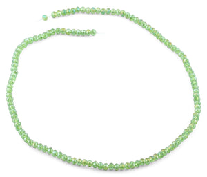 4mm Green Faceted Rondelle Crystal Beads