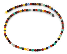Load image into Gallery viewer, 4mm Multi-Color Agate Faceted Gem Stone Beads