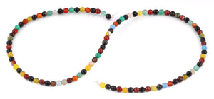 4mm Multi-Color Agate Faceted Gem Stone Beads