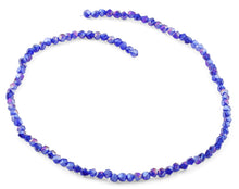 Load image into Gallery viewer, 4mm Navy Blue Twist Round Faceted Crystal Beads