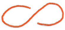Load image into Gallery viewer, 4mm Orange Faceted Rondelle Crystal Beads