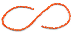 4mm Orange Faceted Rondelle Crystal Beads