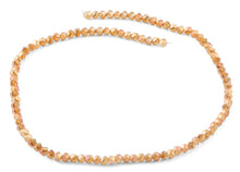 Load image into Gallery viewer, 4mm Orange Twist Round Faceted Crystal Beads