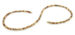 4mm Picture Jasper Round Gem Stone Beads