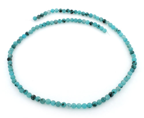 4mm Aqua Quartz Round Gem Stone Beads