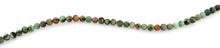 Load image into Gallery viewer, 4mm Plain Round Green Turquoise Gem Stone Beads