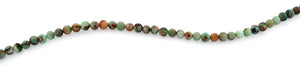 4mm Plain Round Green Turquoise Gem Stone Beads