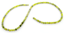 Load image into Gallery viewer, 4mm Plain Round Harmony Serpentine Gem Stone Beads