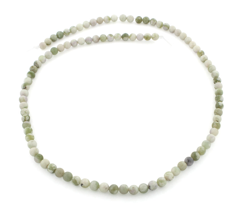 4mm Plain Round Peace Jasper Gem Stone Beadss