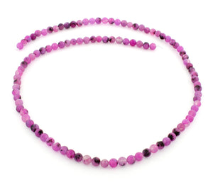 4mm Plain Round Purple Quartz Gem Stone Beads