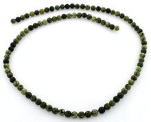 Load image into Gallery viewer, 4mm Plain Round Russian Serpentine Gem Stone Beads