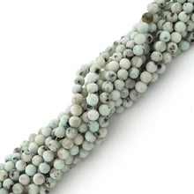 Load image into Gallery viewer, 4mm Plain Round Sesame Jasper Gem Stone Beads