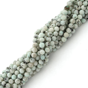 4mm Plain Round Sesame Jasper Gem Stone Beads