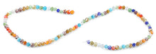 Load image into Gallery viewer, 4mm Rainbow Twist Round Faceted Crystal Beads