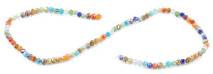 4mm Rainbow Twist Round Faceted Crystal Beads