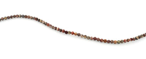 4mm Red Leopard Skin Jasper Round Gem Stone Beads