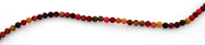 4mm Red Turtle Jasper Gem Stone Beads