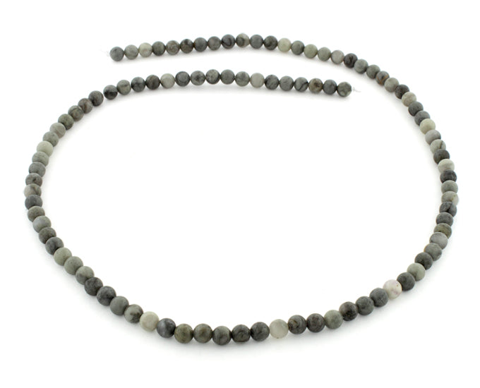 4mm Round Chinese Eagle Eye Gem Stone Beads