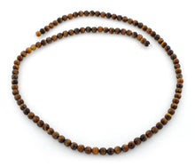 Load image into Gallery viewer, 4mm Round Yellow Tiger Eye Gem Stone Beads