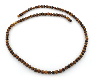 4mm Round Yellow Tiger Eye Gem Stone Beads