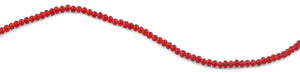 4mm Scarlet Faceted Rondelle Glass Beads
