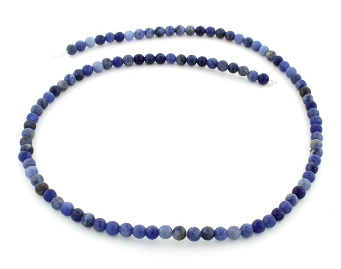 4mm Sodalite Round Gem Stone Beads