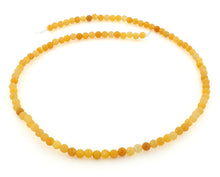 Load image into Gallery viewer, 4mm Yellow Jade Round Gem Stone Beads