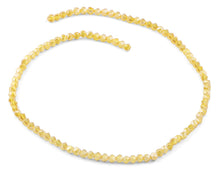Load image into Gallery viewer, 4mm Yellow Twist Round Faceted Crystal Beads