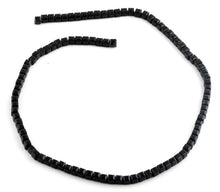 Load image into Gallery viewer, 4x4mm Black Square Faceted Crystal Beads